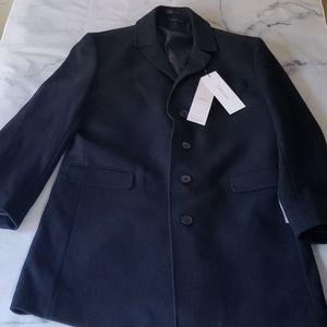 NWT - Calvin Klein Men's Wool-Blend Overcoat